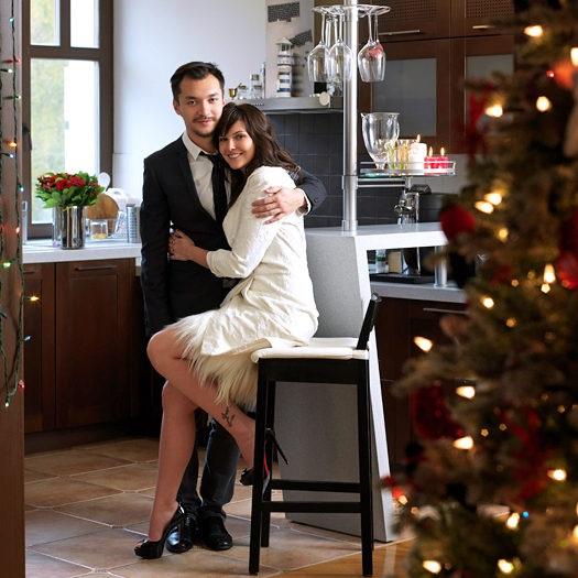 Анастасия Вирганская с мужем