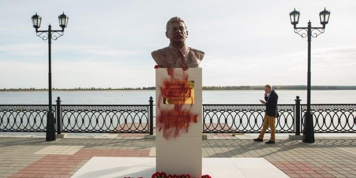 В Сургуте снесли бюст Сталина рядом с будущим памятником репрессированным