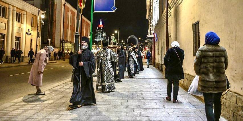 В Москве будут ежедневно проводить крестные ходы против коронавируса