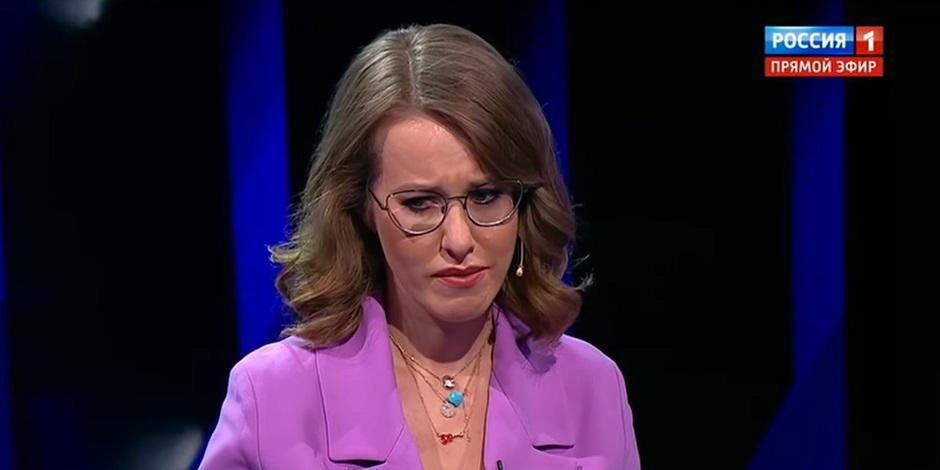 Собчак расплакалась на дебатах в прямом эфире