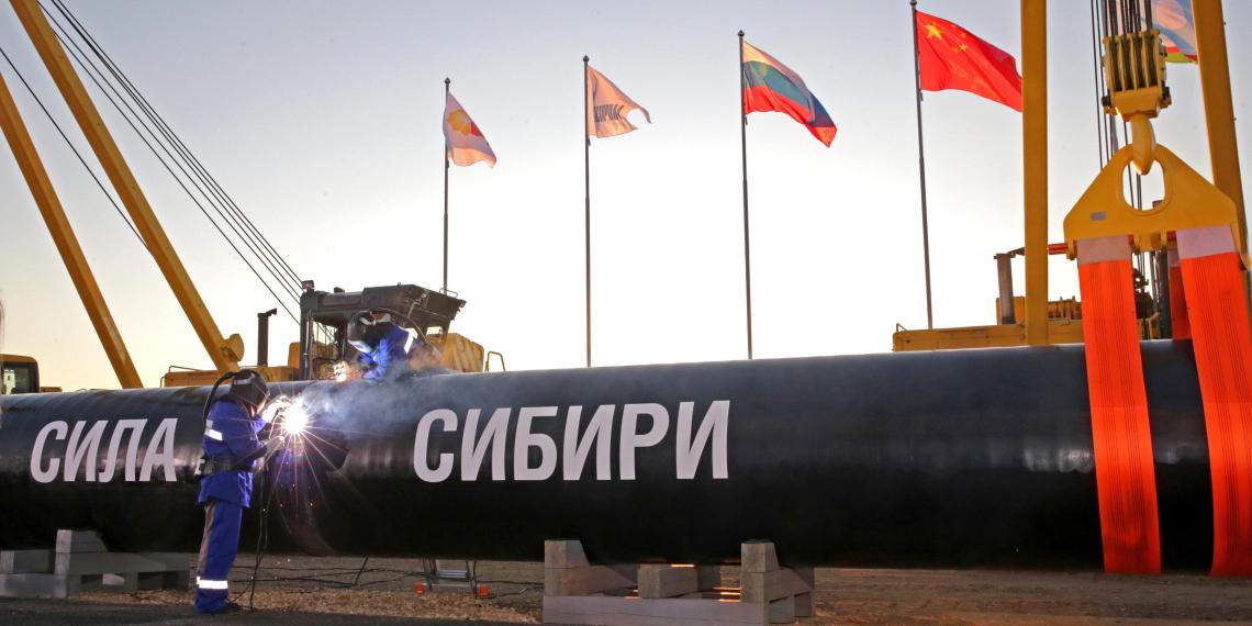 """Стоимость строительства """"Силы Сибири"""" выросла до 1,1 трлн рублей"""