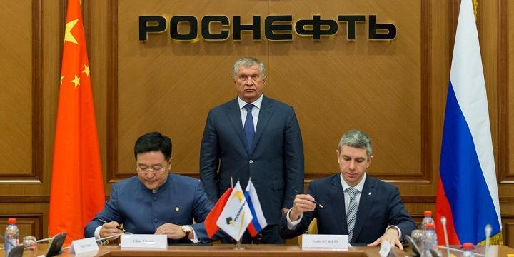 """Сечин объявил о продаже акций """"Роснефти"""" Китаю"""