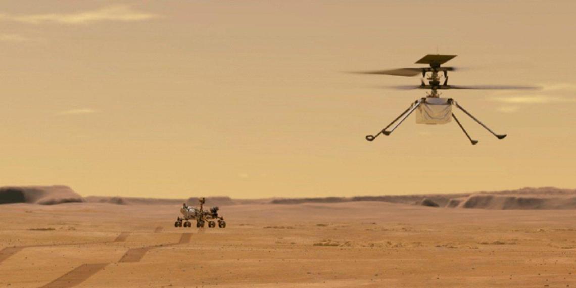 На Марс впервые в истории высадили вертолет