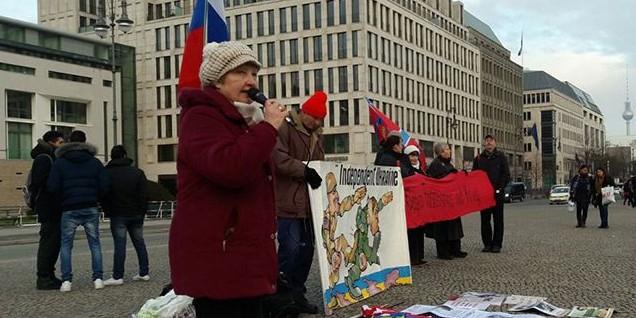 В Берлине прошел пикет против внешней политики Барака Обамы