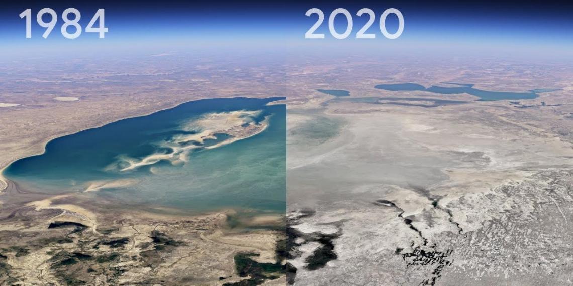 Google показала, как изменилась Земля за 36 лет