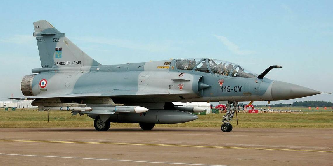 Истребитель ВВС Франции потерял учебную бомбу во время полета
