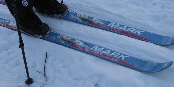 Голый челябинец прокатился на лыжах в 30-градусный мороз