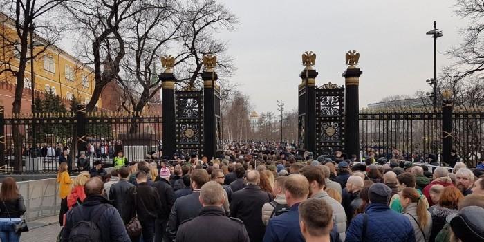 На московский вечер памяти жертв теракта пришли свыше 50 тысяч человек