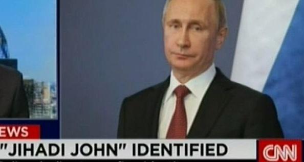 Владимир Путин стал «джихадистом Джоном»  в эфире CNN