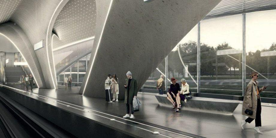 В Москве появится первая теплая наземная станция метро
