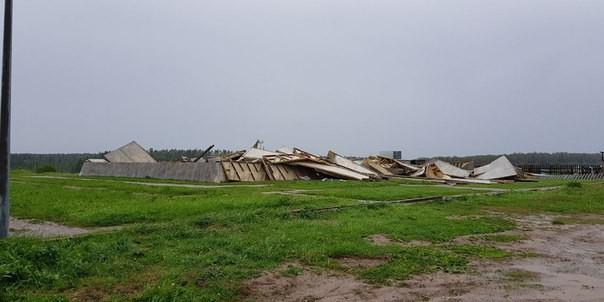 Ураган снес пирамиду Голода в Подмосковье