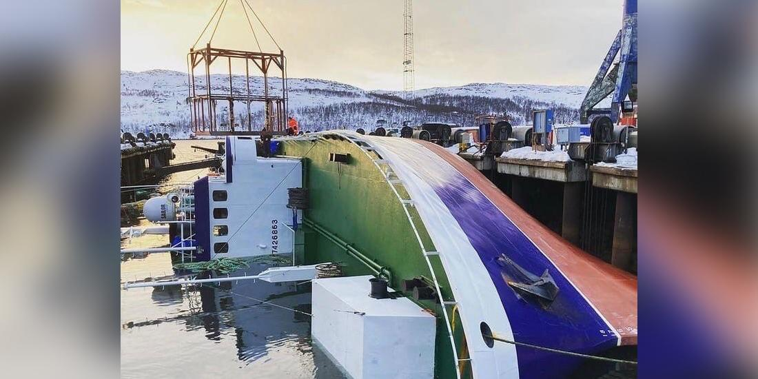 У берегов Норвегии опрокинулся российский траулер
