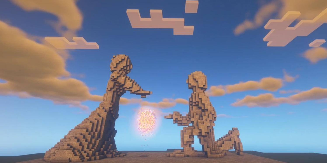 Активистка РДШ создала в игре Minecraft памятник семье