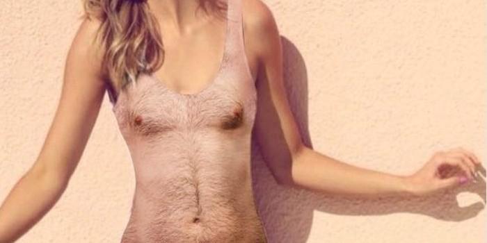 Новый модный хит: купальники с принтом мужской груди