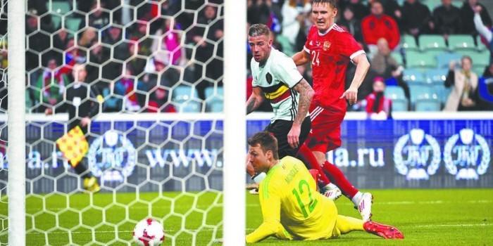 Сборная России вырвала ничью у бельгийцев за минуту до окончания матча