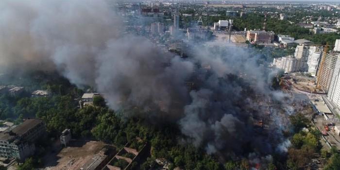В Ростове-на-Дону из-за пожара введен режим чрезвычайной ситуации
