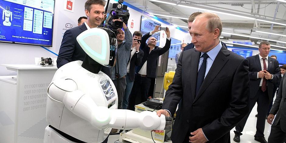 Владимир Путин посетил в Перми технопарк Пермского ИТ-кластера