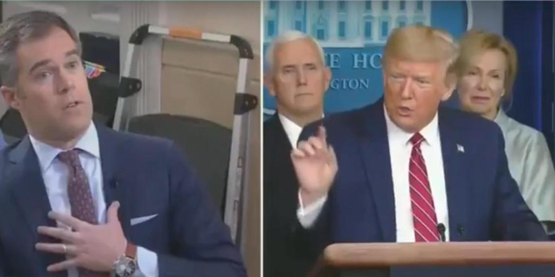 """Трамп в прямом эфире назвал репортера NBC """"ужасным"""" за его вопрос про лекарства от коронавируса"""