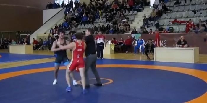 Схватка российского и грузинского борцов на Кубке наций завершилась массовой дракой