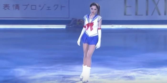 Фигуристка Медведева покорила Японию своим выступлением в образе Сейлор Мун