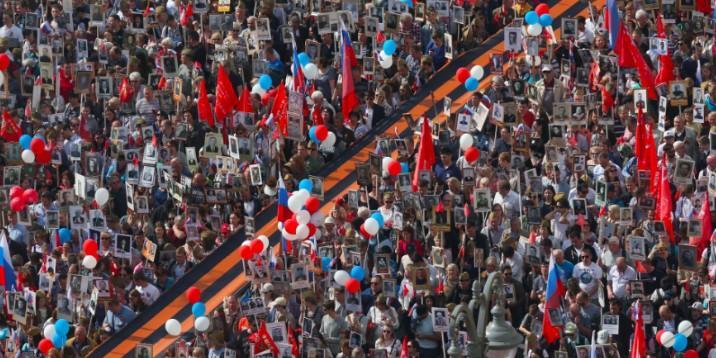 """Более 10 миллионов человек приняли участие в шествии """"Бессмертного полка"""""""