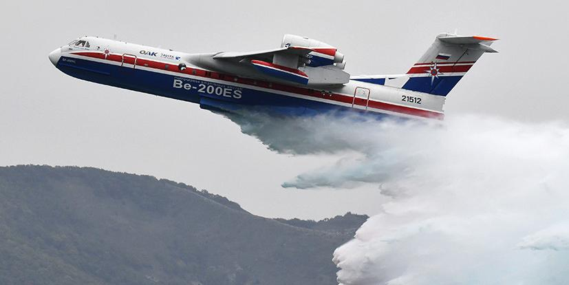 Российский самолет-амфибия потушил пожар в Греции