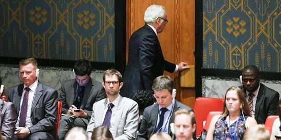 Чуркин покинул зал Генассамблеи ООН во время речи Порошенко
