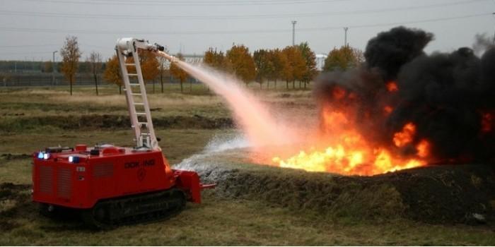 Россия подарила МВД Сербии спасательные машины и хорватского робота-пожарного