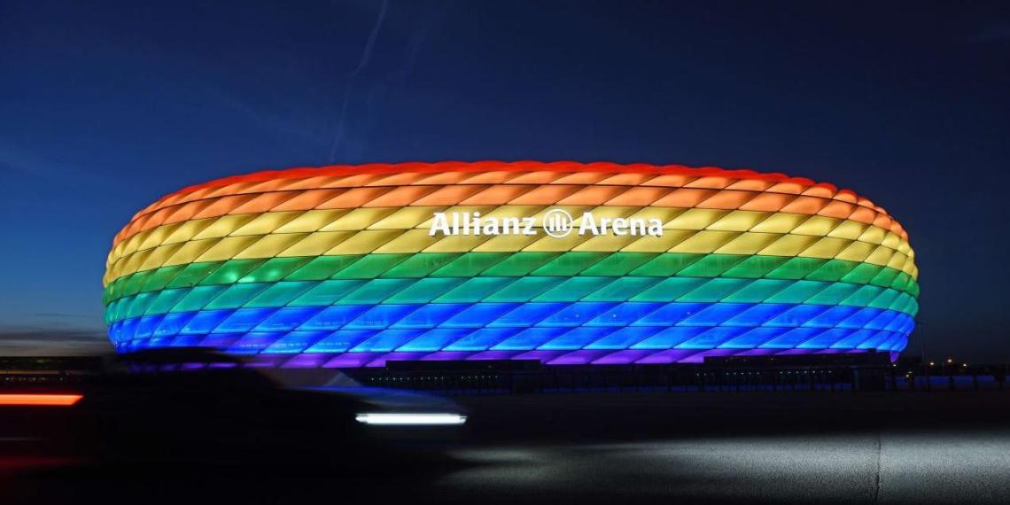 УЕФА запретил радужную подсветку арены в Мюнхене перед матчем Евро