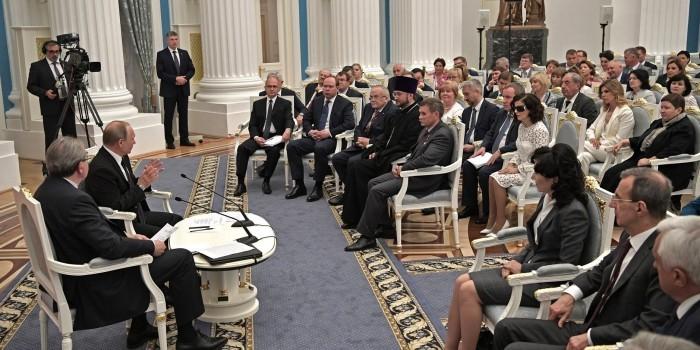 Путин встретился с членами Общественной палаты нового созыва