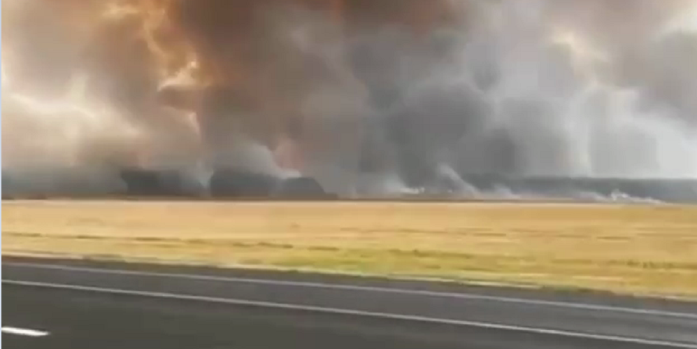 В Рязанской области горит склад боеприпасов: очевидцы публикуют видео