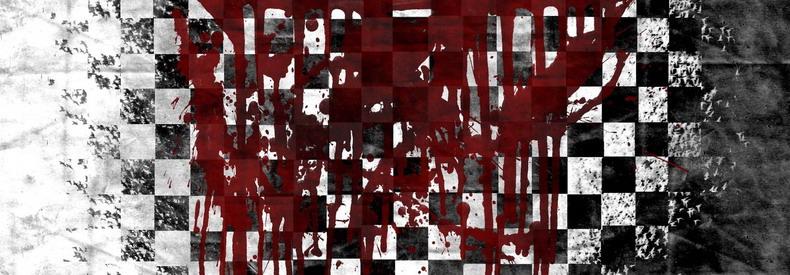 Шахматная доска, залитая кровью
