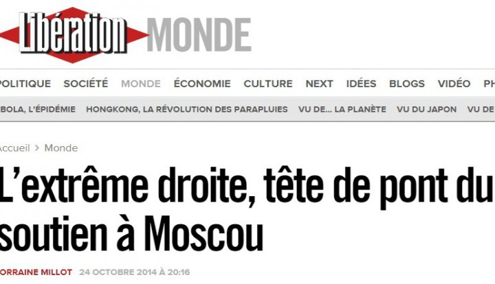 Libération: досье о российском влиянии во Франции