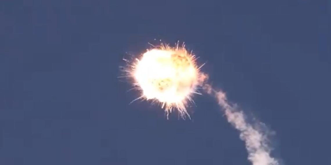 В Калифорнии сняли взрыв американо-украинской ракеты Alpha