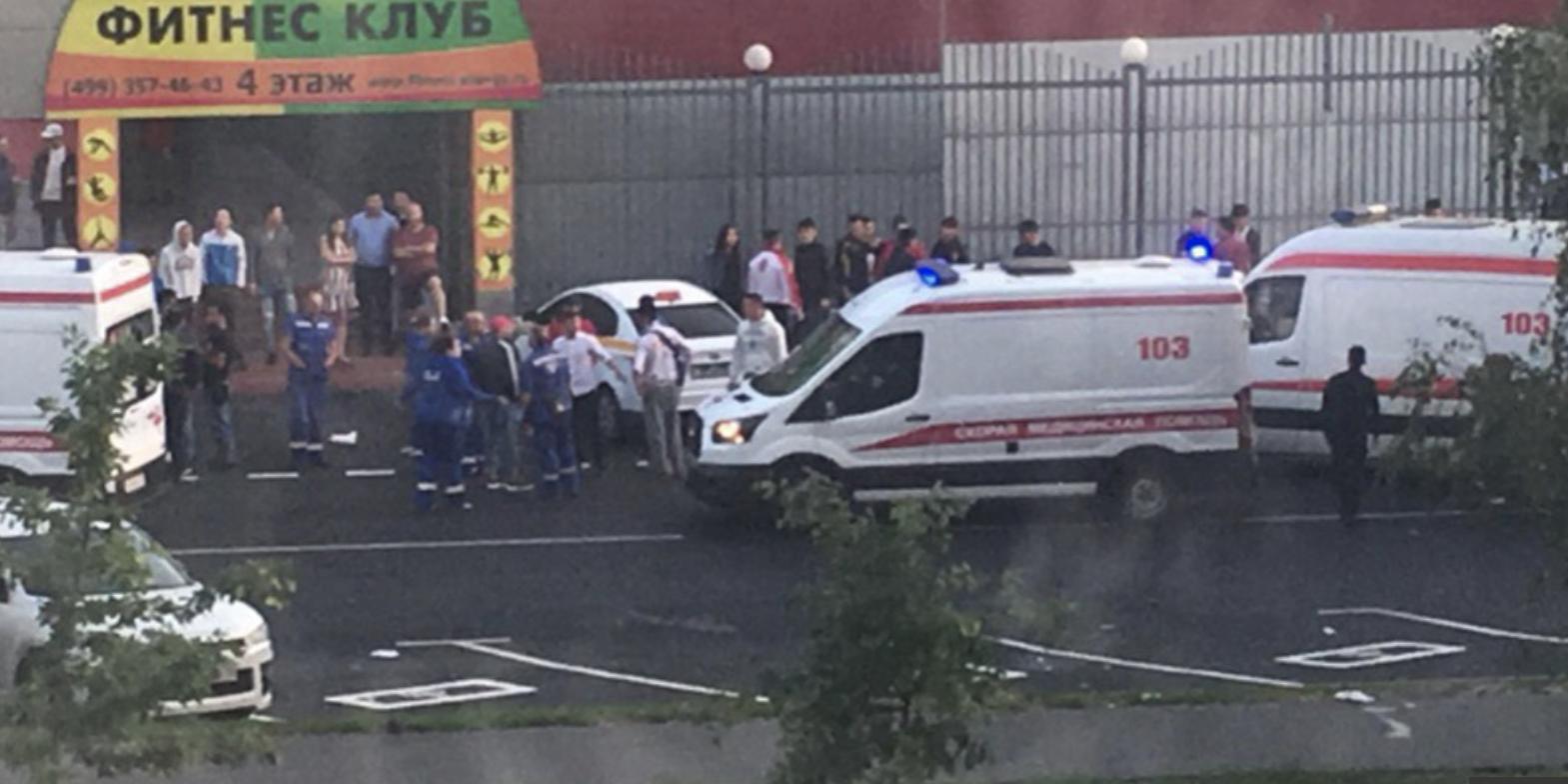 Наезд водителя из Киргизии на толпу пешеходов в Москве попал на видео