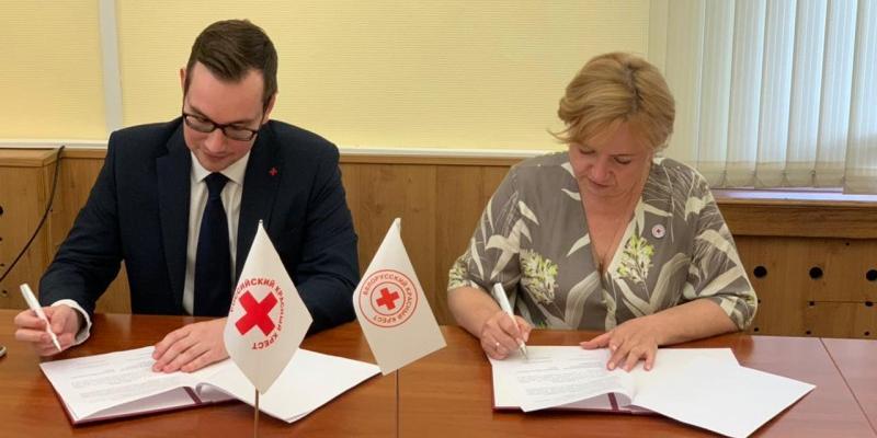 Российский Красный Крест подписал меморандум о взаимопонимании с Белорусским Красным Крестом