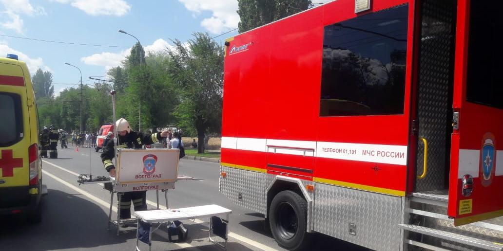 Взрыв цистерны с газом в Волгограде попал на видео