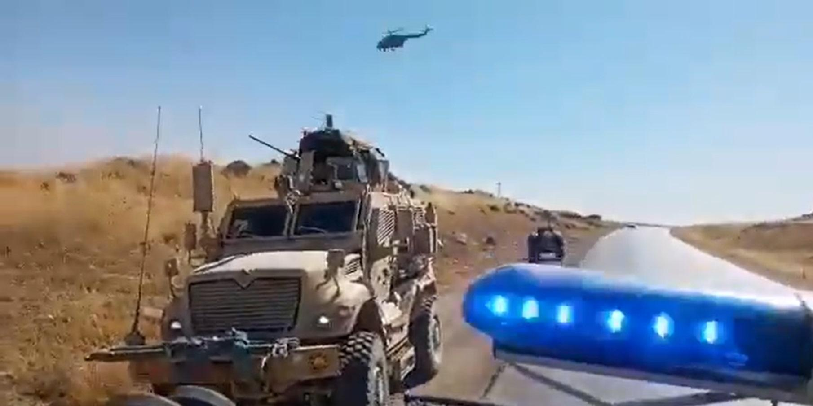 Появилось видео конфликта российских и американских военных в Сирии с применением вертолета