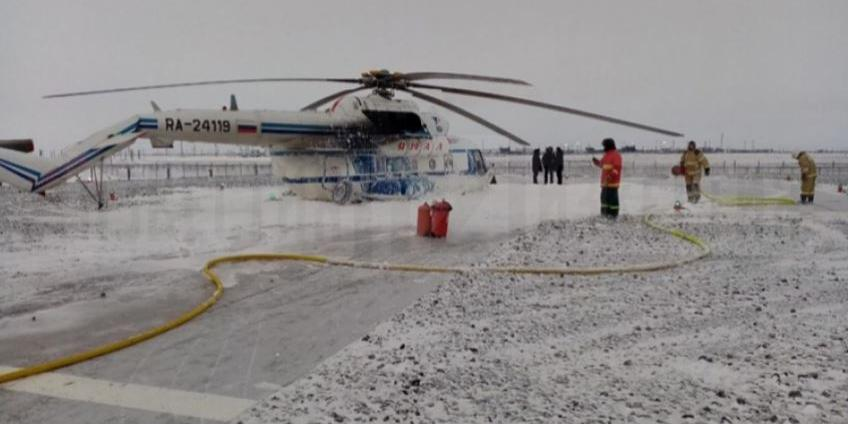 На Ямале Ми-8 получил сильные повреждения при аварийной посадке