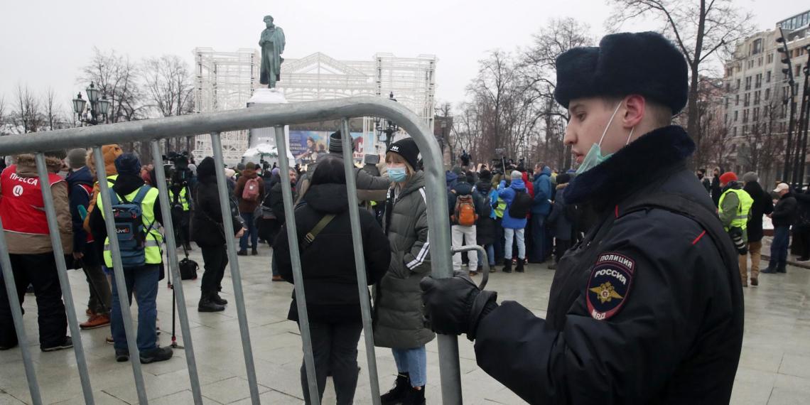 МВД: на незаконную акцию в Москве вышли около 4 тысяч человек