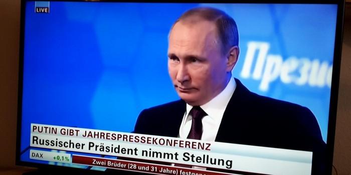 Немецкое ТВ впервые показало ежегодную пресс-конференцию Путина в прямом эфире