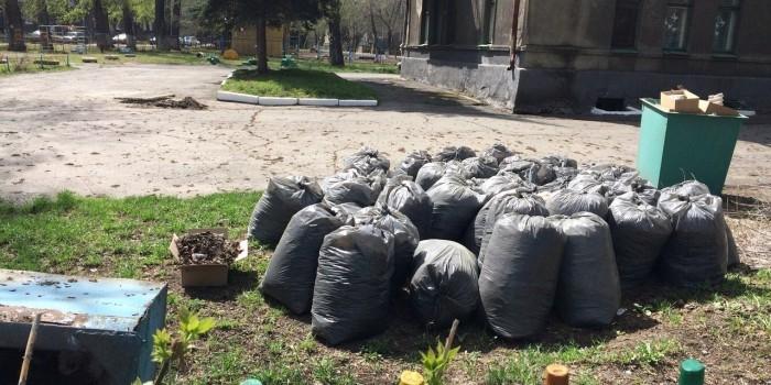 Пермяки в ходе субботника собрали 300 пакетов мусора