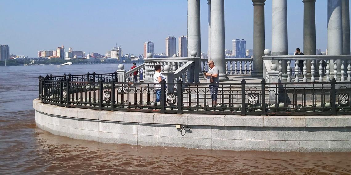 Уровень Амура в Благовещенске побил рекорд паводка восьмилетней давности