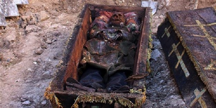 В Турции при раскопках нашли гроб с телом русского генерала