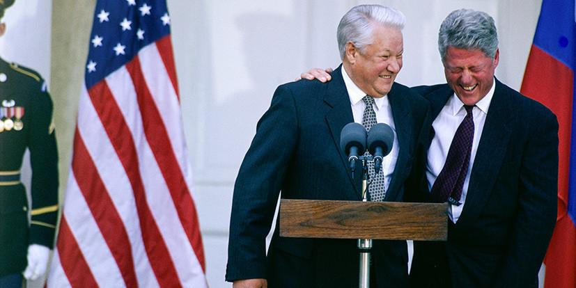 Бывший зять Ельцина рассказал о попойке президента с Биллом Клинтоном в туалете Кремля
