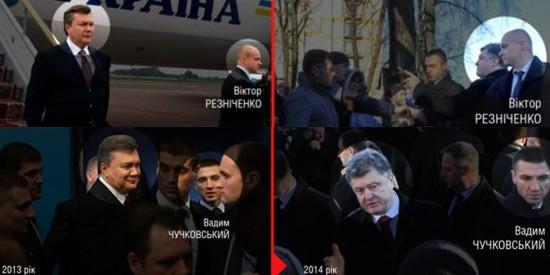 Журналисты показали, как телохранители Януковича теперь охраняют Порошенко