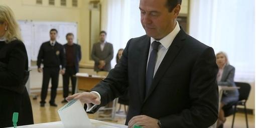 """Медведев заявил, что доволен лидерством """"Единой России"""" на выборах"""