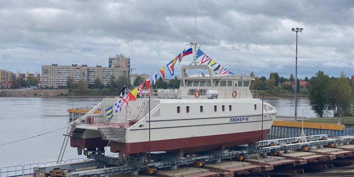 В Петербурге спустили на воду первый в России беспилотный корабль