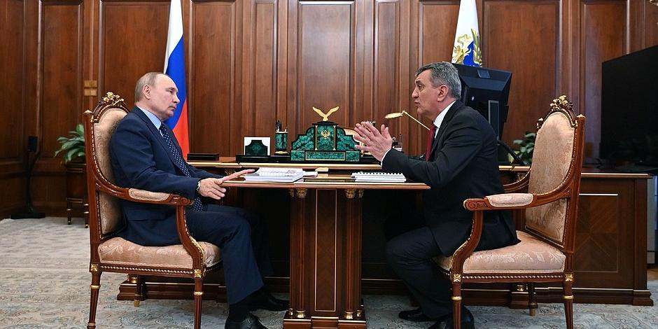 Путин провел встречу с главой Северной Осетии