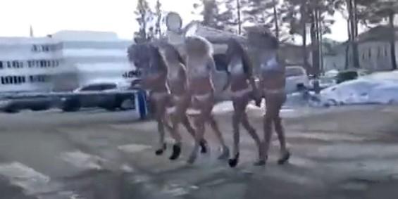 Сахалинские девушки устроили голый протест против повышения тарифов ЖКХ